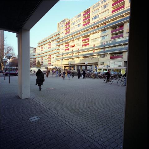 D-00600 - Tilburg - foto's stadsgezichten - Flats aan de Paleisring (in opdracht van PLM)