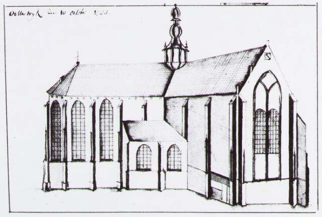 057137 - Tekening. R.K. Sint Petrus Banden kerk.