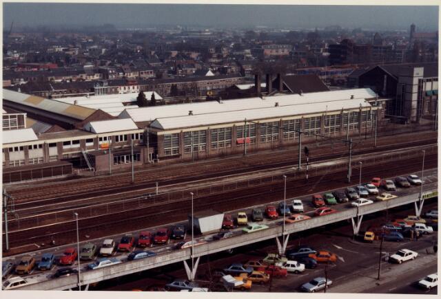 036650 - Panorama van Tilburg vanaf de flat aan de Spoorlaan 392