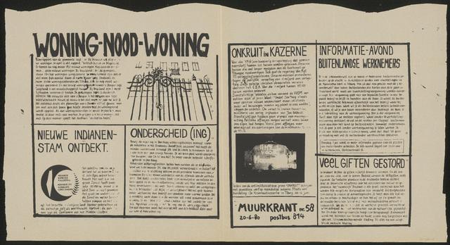 668_1980_058 - Muurkrant: Woning-nood-woning