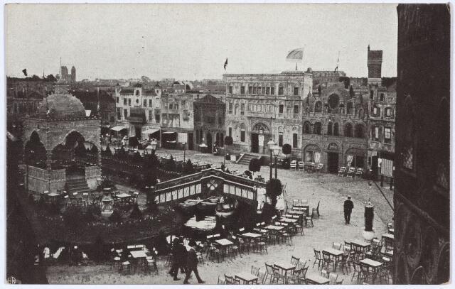 003289 - Nabootsing van de stad Venetië op de tentoonstelling Stad Tilburg.