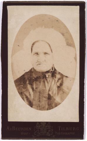 005945 - Wilhelmina Teurlings geboren te Tilburg 24 juli 1822, aldaar overleden 8 september 1885, huisvrouw van wijlen Petrus Voskens en daarna van Adrianus van Loon.