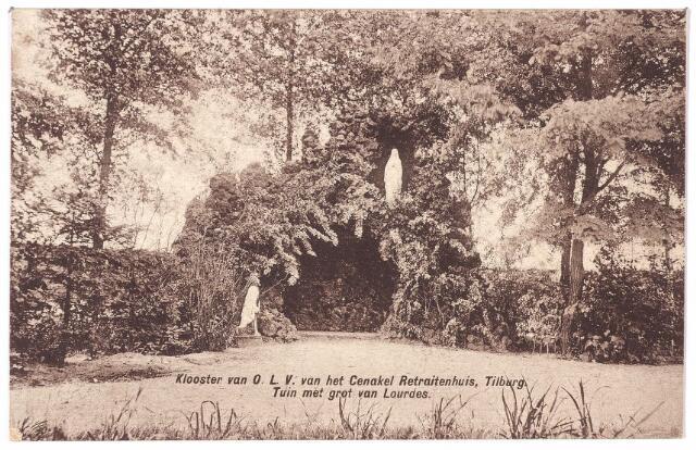 001449 - Kempenbaan, voorheen Koningshoeven. Tuin met Lourdesgrot van het retraitehuis en klooster van O. L. V. van het Cenakel.