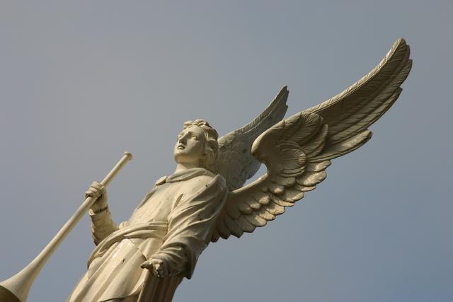 656595 - Kerkhof Bredaseweg Tilburg. Engel standbeeld.