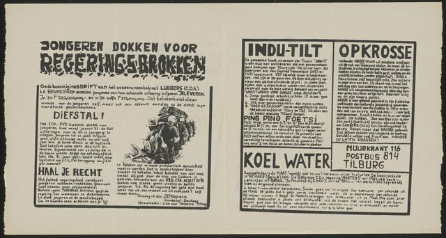 668_1982_116 - Muurkrant: Jongeren dokken voor regeringsbrokken