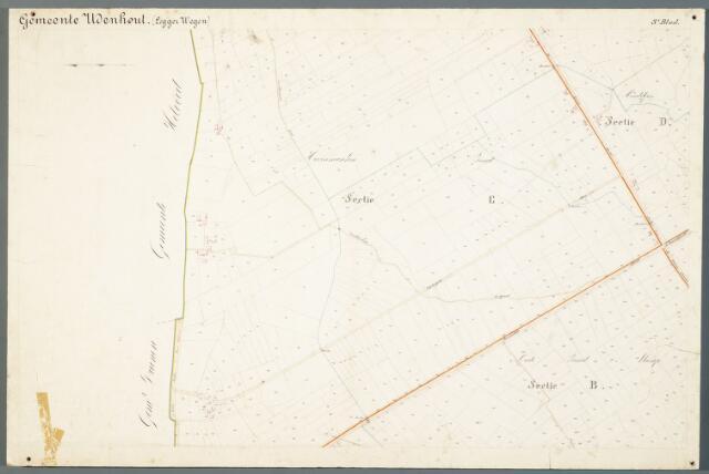 051003 - Kaart. Wegenkaart Udenhout