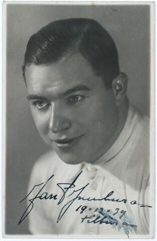 005453 - Sport. Wielrennen. Jan Pijnenburg, wielrenner bijgenaamd kanonbal, geboren Tilburg 15 februari 1906, overleden Tilburg 2 december 1979 gehuwd met Mimi Bierens.