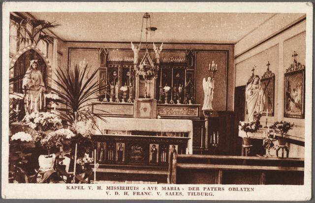 010823 - Kloosters. Interieur kapel van missiehuis Avé Maria aan het Columbusplein.