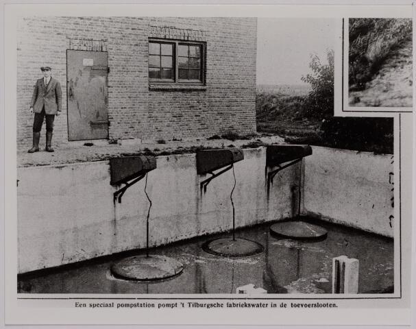 040786 - Waterzuivering. Afwatering. Pompstation voor de afvoer van het afvalwater van fabrieken.  Reproductie uit Brabantse Illustratie
