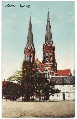000957 - Kerk en lindeboom, Heuvel.