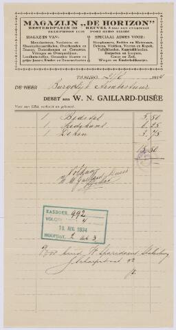 060120 - Briefhoofd. Nota van W.N. Gaillard-Dusée voor Burgerlijk Armbestuur