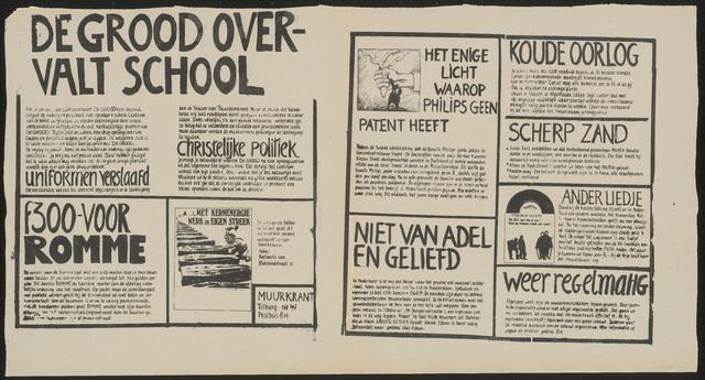 668_1980_047 - Muurkrant: De Grood overvalt school