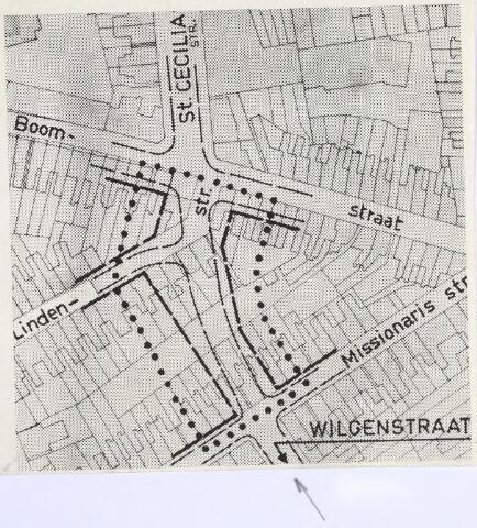 026458 - Kaart. Plattegrond van de omgeving Missionarisstraat