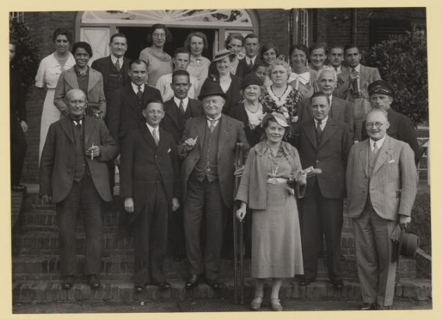075536 - Ontvangst te Oisterwijk van burgemeester van Albury in 1935.