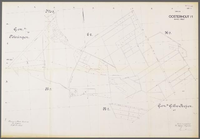 104970 - Kadasterkaart. Kadasterkaart / Netplan Oosterhout. Sectie I1. Schaal 1: 5000.