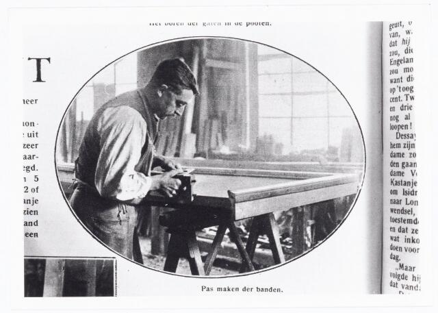 039670 - Biljartfabriek A.P.C. Roothaert Het Zuiden, Telefoonstraat 22, opgericht 1887.   Reproductie uit Brabantse Illustratie