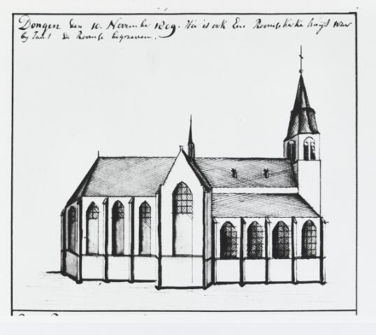 055494 - Tekening. Nederlands Hervormde Kerk.