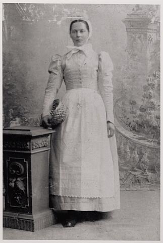 012105 - Maria Anna (Mie) Zebregs, geb. te Tilburg 8-3-1869, dochter van Adriaan Zebregs en Johanna de Kock. In 1901 vertrok zij naar Den Haag om daar als dienstbode de kost te verdienen. Later was zij in Tilburg dienstbode bij textielfabrikant Fons Mommers.
