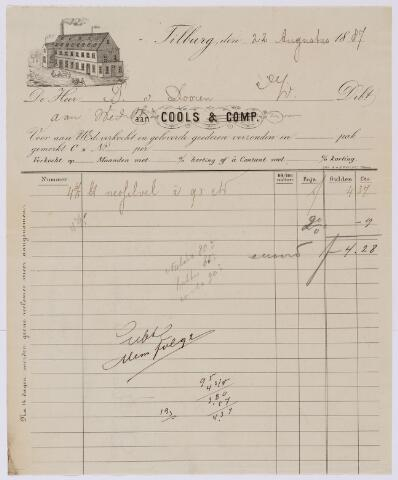 059863 - Briefhoofd. Nota van Cools & Comp. voor P. van Dooren