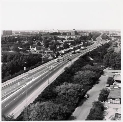 036342 - Panorama van Tilburg vanaf de flat aan de Hart van Brabantlaan (Ringbaan-West)