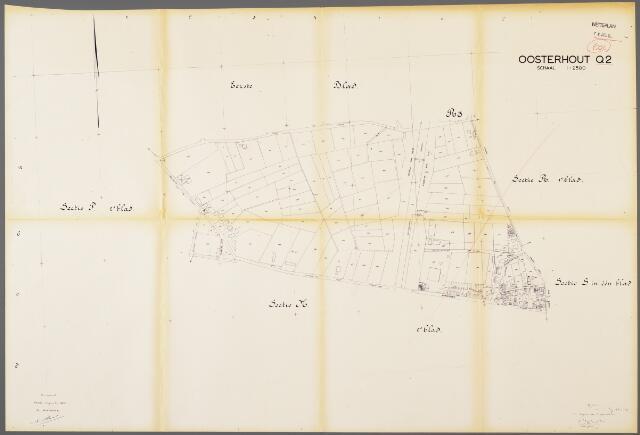 104953 - Kadasterkaart. Kadasterkaart / Netplan Oosterhout. Sectie Q2. Schaal 1: 2.500.