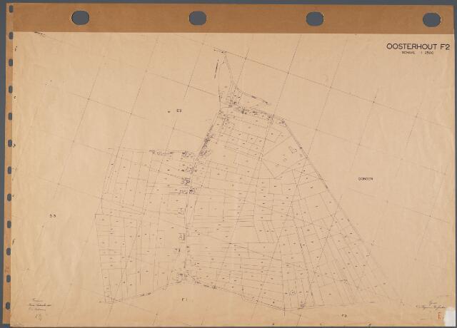 104733 - Kadasterkaart. Kadasterkaart Oosterhout Sectie F2, Schaal 1: 2.500