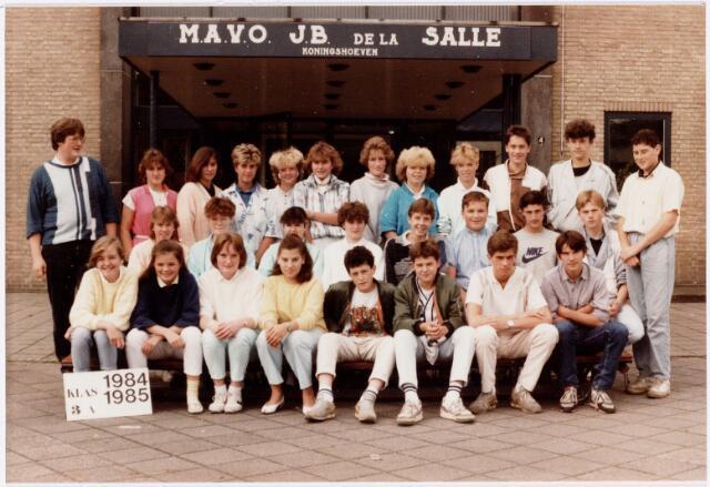 051716 - Middelbaar Voortgezet Onderwijs. MAVO St. Jean Baptiste de la Salle. klas 3a. Schooljaar 1984-1985