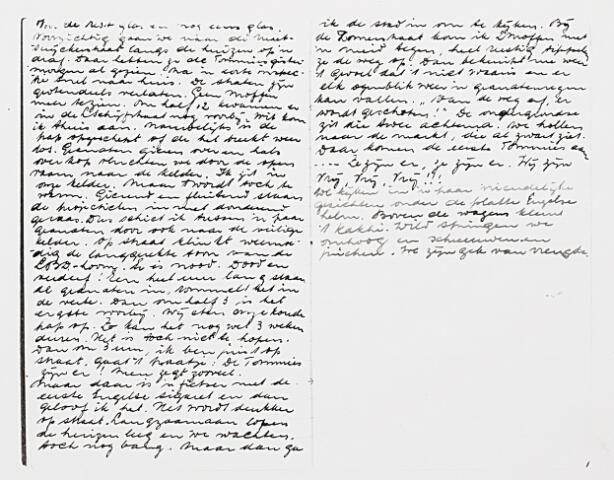 013220 - Tweede Wereldoorlog. Bevrijding. De 20-jarige Wilhelmus Kruijssen, wonende aan de Bredaseweg, deed in zijn dagboek gedetailleerd verslag van de bevrijding van Tilburg