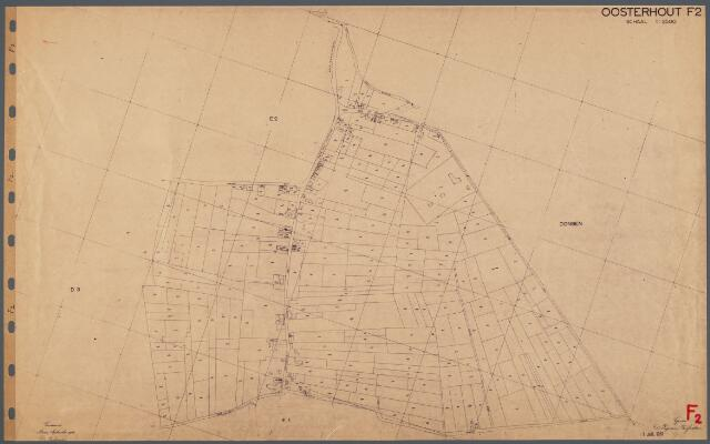 104734 - Kadasterkaart. Kadasterkaart Oosterhout Sectie F2, Schaal 1: 2.500