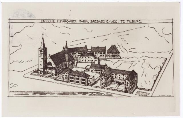 002060 - Ringbaan-West, gebouwencomplex van de parochie van de H. Margarita Maria aan de Ringbaan-West bestaande uit kerk, pastorie, kloosters, patronaat en schoolgebouwen. De toren van de kerk werd nooit gebouwd.