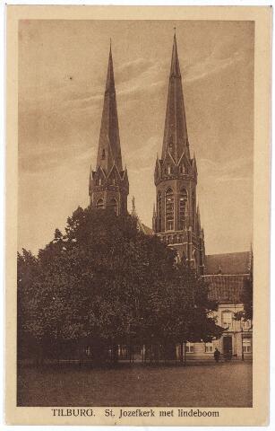 000970 - Kerk St. Jozef, pastorie en lindeboom, Heuvel.