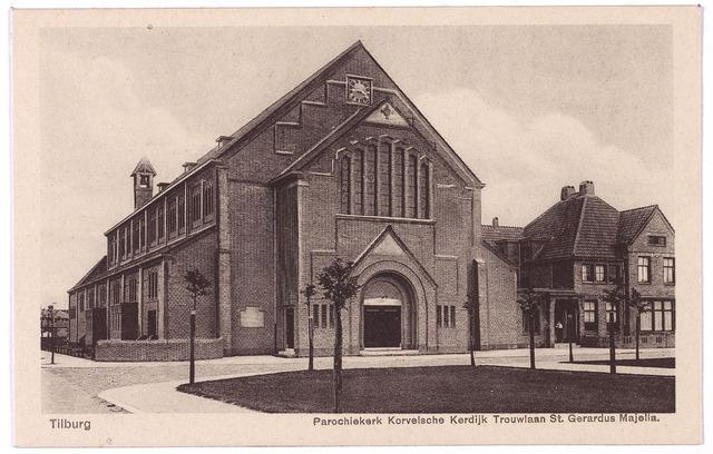 002725 - Kerk en pastorie van de parochie van de H. Gerardus Majella (Trouwlaan) aan de Wassenaerlaan.
