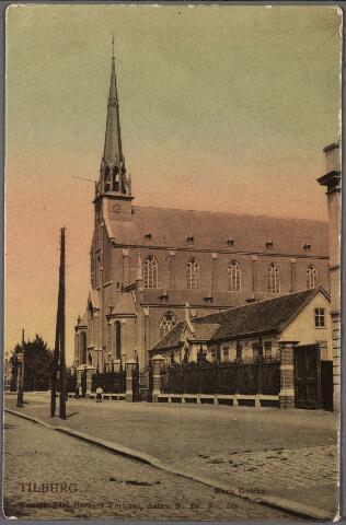 010475 - Goirkestraat met rechts de Mariaschool en de parochiekerk St. Dionysius.