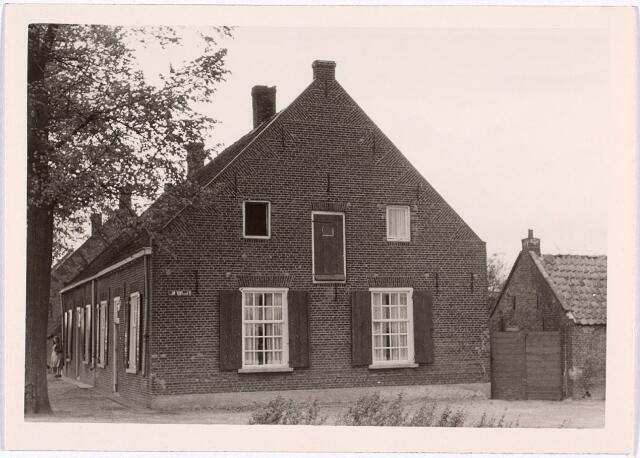 014531 - Zijgevel van de panden Stokhasseltstraat (Bellinistraat) 20 en 22 anno 1963