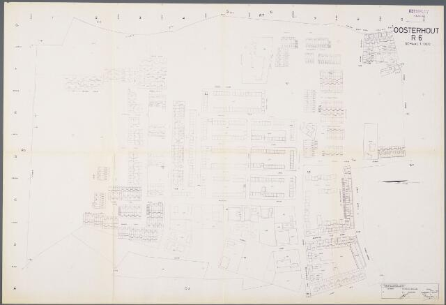 104925 - Kadasterkaart. Kadasterkaart / Netplan Oosterhout. Sectie R6. Schaal 1: 1000.