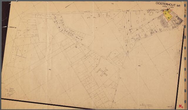 104824 - Kadasterkaart. Kadasterkaart Oosterhout Sectie M1, Schaal 1 : 2.500