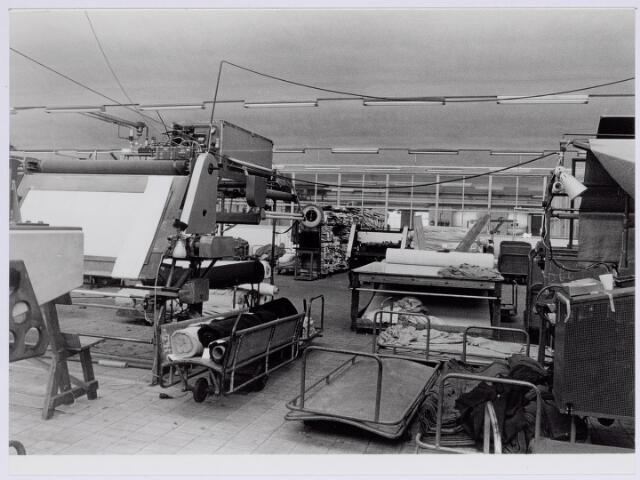 037948 - Textiel. Gedeelte van de droogappretuur van wollenstoffenfabriek George Dröge