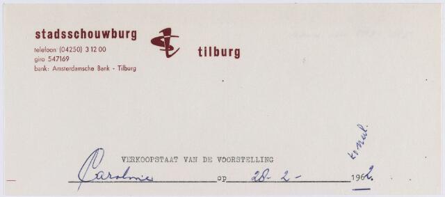 061166 - Briefhoofd. Briefhoofd van Stadsschouwburg