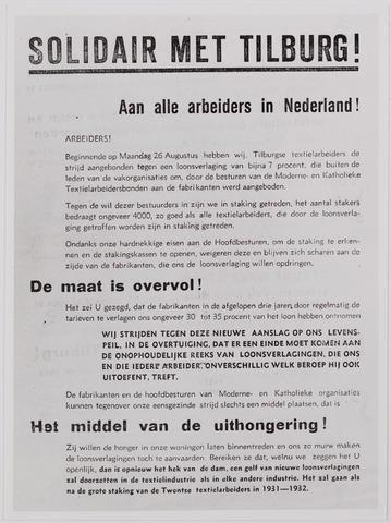 040881 - Vakbeweging. Textielstaking 1935. pamfletten, Annonces, mededelingen in de Fakkel het orgaan van het nationaal arbeidssecretariaat, de textielarbeidersbond, de vereniging van Textielfabriekanten, inzake de staking van textielarbeiders op 13 september 1935.