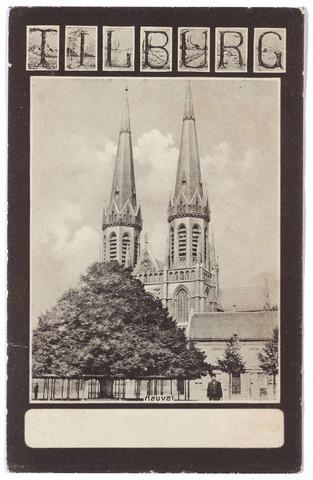 000894 - Heuvel met kerk St. Jozef en lindeboom.