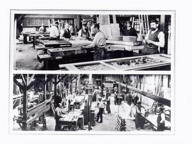039691 - Timmerfabriek Arn. Stevens aan 't Goirke het huidige Julianapark (1915)