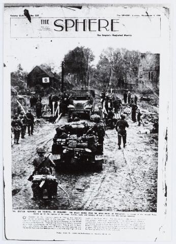 057046 - WOII; WO2; Tweede Wereldoorlog. Bevrijding. Britse troepen overschrijden het riviertje de Reusel.