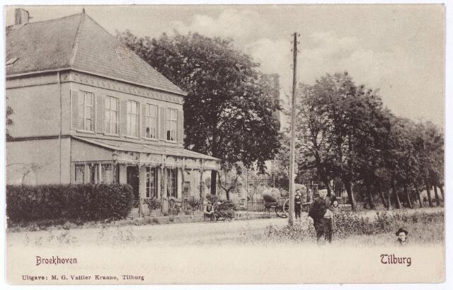 001226 - Fabrikantenwoning van Pieter van Dooren aan de Hilvarenbeekseweg, gesloopt in 1975.