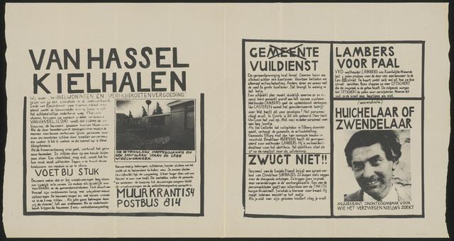 668_1984_154 - Muurkrant: Van Hassel Kielhalen