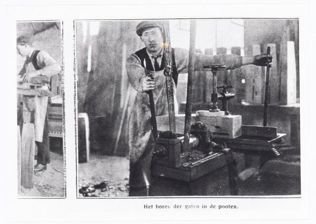039671 - Biljartfabriek A.P.C. Roothaert Het Zuiden, Telefoonstraat 22, opgericht 1887.   Reproductie uit Brabantse Illustratie