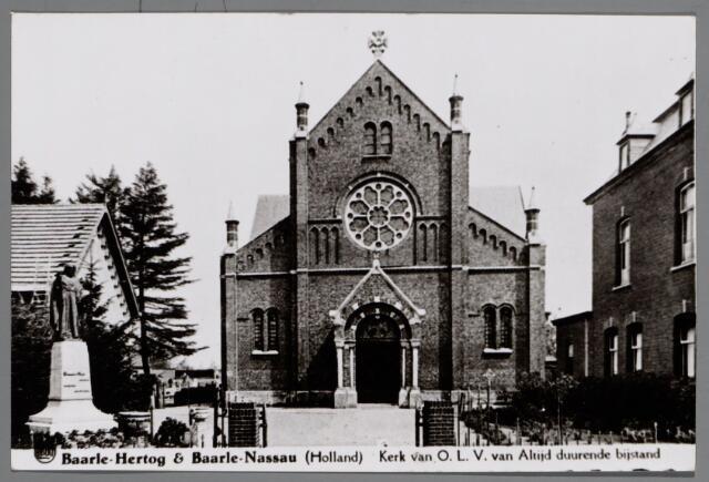 065550 - Rooms Katholieke Kerk van Onze Lieve Vrouw van Altijddurende Bijstand; later werd deze kerk verbouwd door architect Jac. van Groenendael.