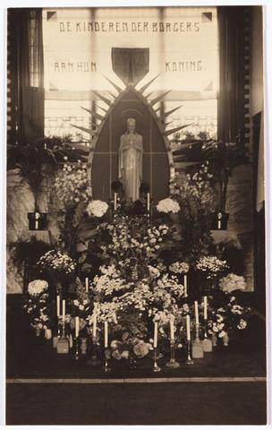 009079 - H.Hart versiering St. Janschool Goirke Kasteeldreef. (1932)