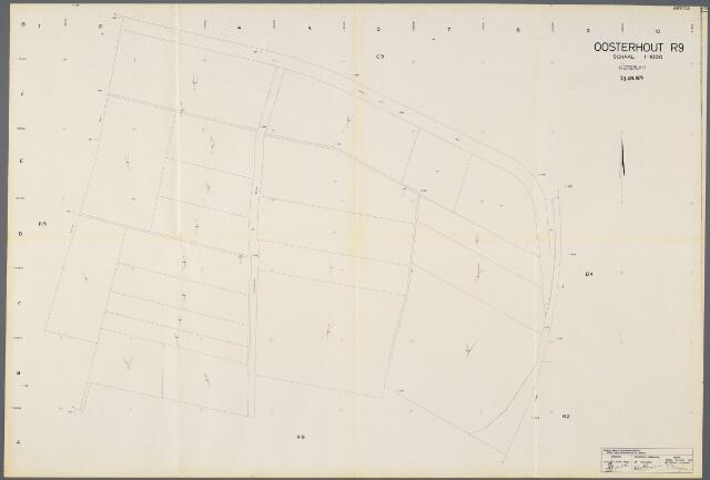 104929 - Kadasterkaart. Kadasterkaart / Netplan Oosterhout. Sectie R9. Schaal 1: 1000.