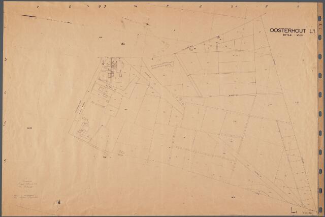 104814 - Kadasterkaart. Kadasterkaart Oosterhout Sectie L1, Schaal 1 : 2.500