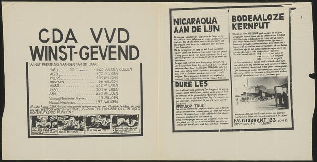 668_1983_133 - Muurkrant: CDA VVD Winstgevend